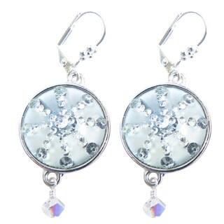 Palmtree Gems 'Silver Bells' Snowflake Dangle Earrings