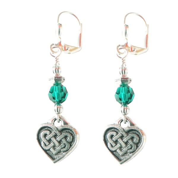 Palmtree Gems 'Kylee' Silver Celtic Heart Dangle Earrings 16511570