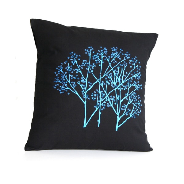 Forest Frost on Charcoal Small Pillow