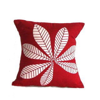Geometric Leaf Large Throw Pillow
