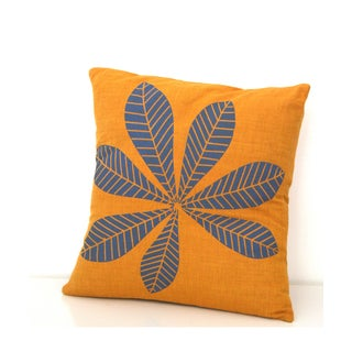 Geometric Slate Leaf Small Throw Pillow