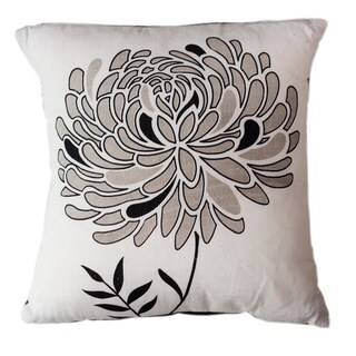 Lunar Dahlia Large Throw Pillow