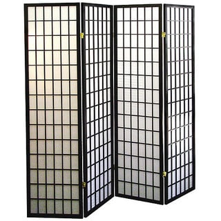 Shoji Style Room Divider with Wood Frame