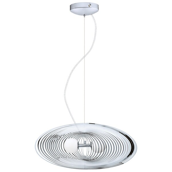 eglo omano 2 light 60 watt pendant with chrome finish and opal frosted