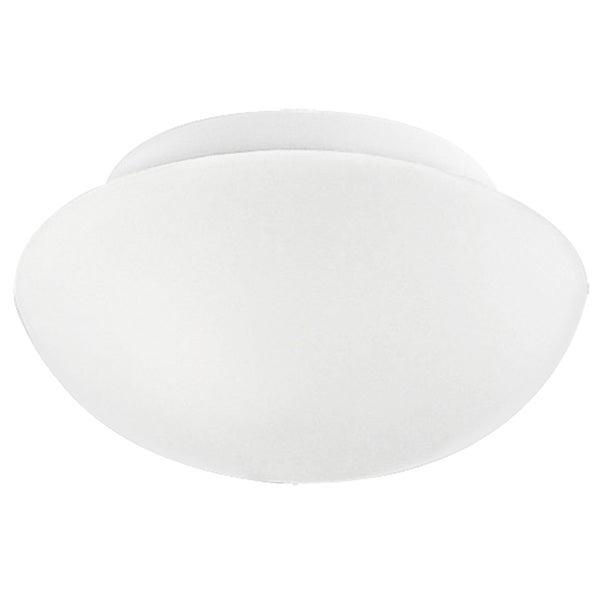 Eglo Ella 1-light 60-watt Ceiling Light with White Finish and Opal Glass