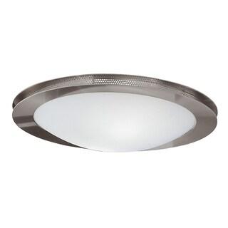 Eglo Sirio 2-light 60-watt Ceiling Light with Matte Nickel Finish and Satin Glass