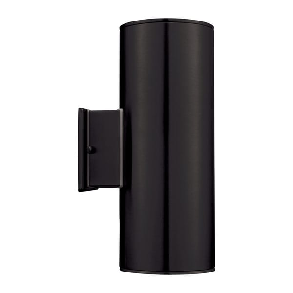 Eglo Ascoli 2-light 50-watt Outdoor Wall Light with Matte Black Finish