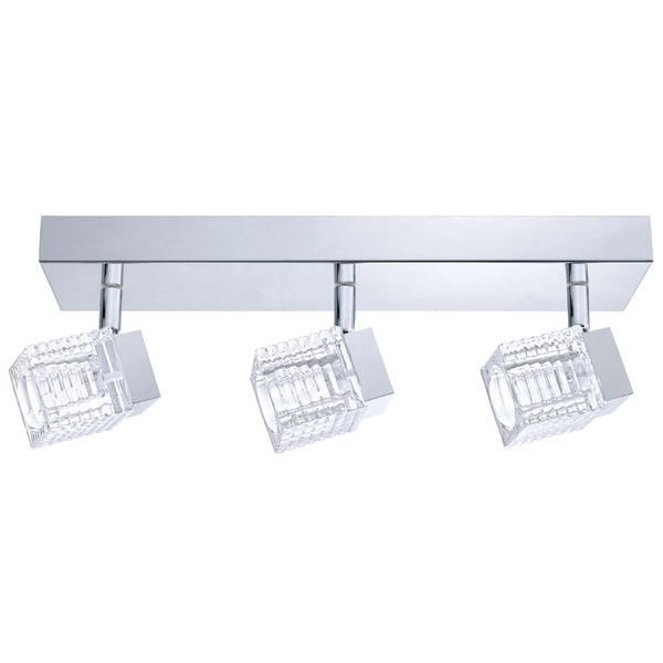 Eglo Quarto 3-light 5W LED Wall/ Ceiling Light with Chrome Finish and Clear Glass