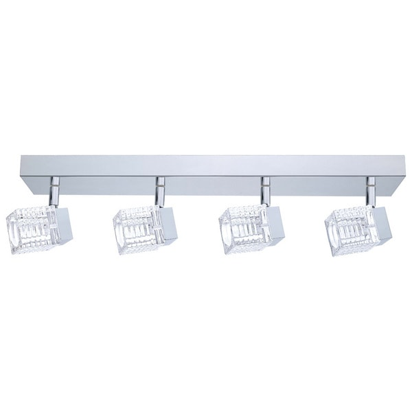 Eglo Quarto 4-light 5W LED Wall/ Ceiling Light with Chrome Finish and Clear Glass