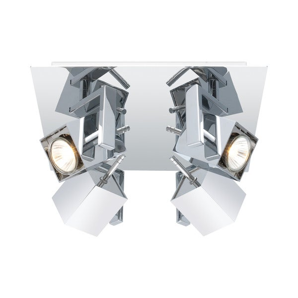 Eglo Mano 4-light 50-watt Square Ceiling Track Light with Chrome Finish