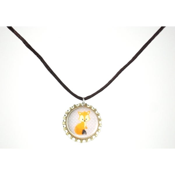 Be the Envy Fox Bottle Cap Necklace