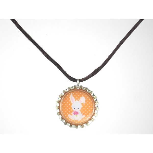 Be the Envy Bunny Rabbit Bottle Cap Necklace