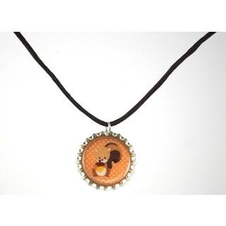Be the Envy Squirrel Bottle Cap Necklace