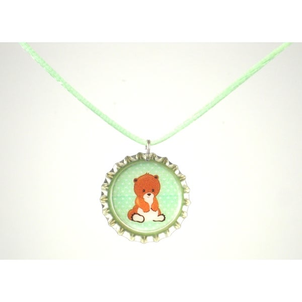 Be The Envy Beaver Bottle Cap Necklace