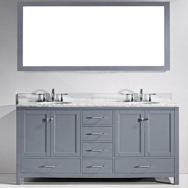 Virtu Usa Caroline Avenue 72 Inch Double Bathroom Vanity Cabinet Set In Grey 17761771