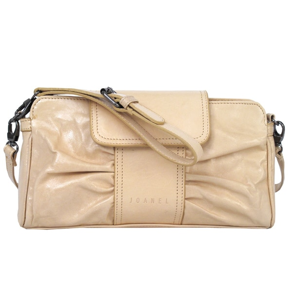 Joanel Beige Shirred Clutch