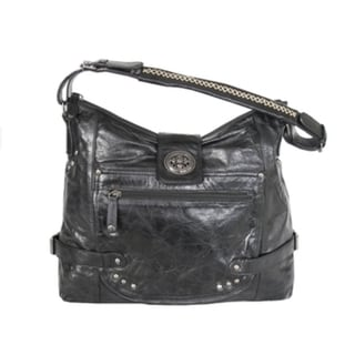 Joanel Black Leather Handbag