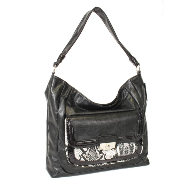 Joanel Faux Leather Reptile Print Handbag