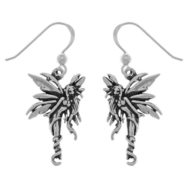 CGC Sterling Silver Firefly Fairy Dangle Earrings