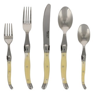 French Home 20-piece Laguiole Faux Ivory Flatware Set