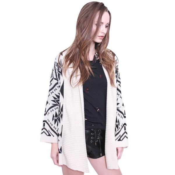 Beston Juniors' Bohemian Knit Cardigan Sweater