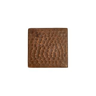 Premier Copper Products 3-inch x 3-inch Hammered Copper Tile (Set of 4)
