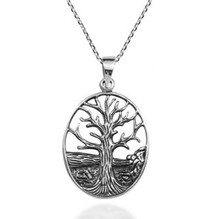 Deep Root Winter Tree of Life .925 Sterling Silver Necklace (Thailand)