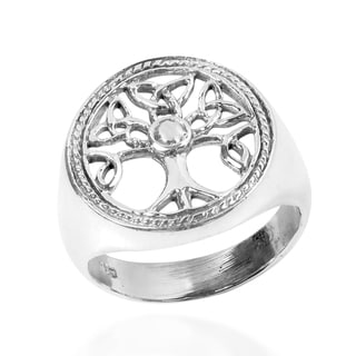 Handmade Harmony Celtic Tree of Life .925 Sterling Silver Ring (Thailand)