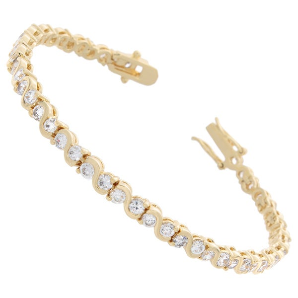 NEXTE Jewelry Cubic Zirconia Pirouette Swriled Tennis Bracelet 16513537