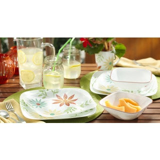 Corelle Square Happy Days 16-Piece Dinnerware Set