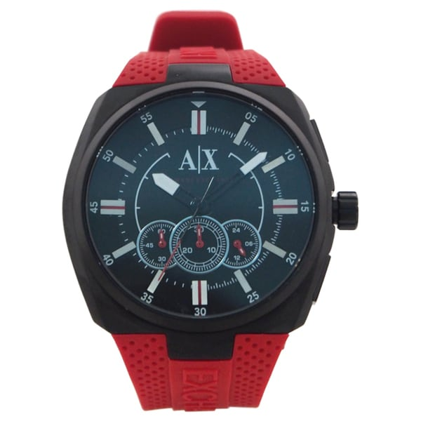 Armani Exchange Men's AX1803 'Active' Chronograph Red Silicone Watch 16513575