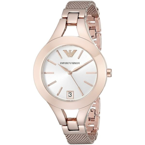 Emporio Armani Women's AR7400 'Chiara' Rose-Tone Stainless Steel Watch