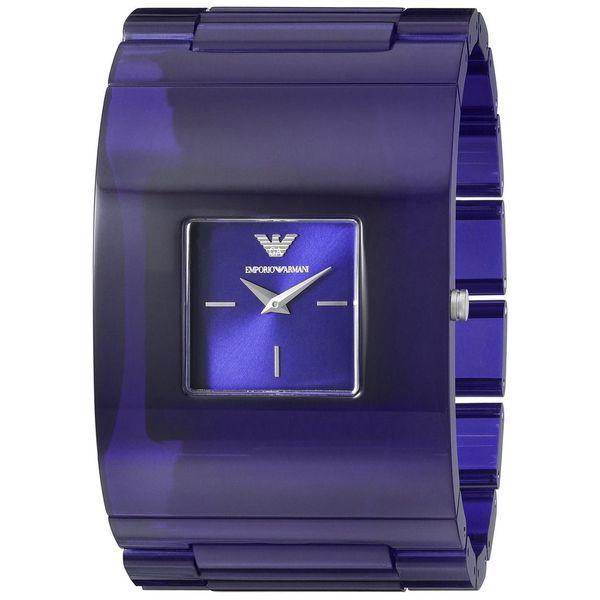 Emporio Armani Women's AR7398 'Donna Catwalk' Blue Plastic Watch