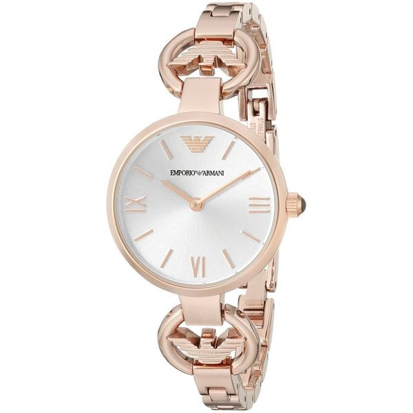 Emporio Armani Women's AR1773 'Gianni' Rose-Tone Stainless Steel Watch