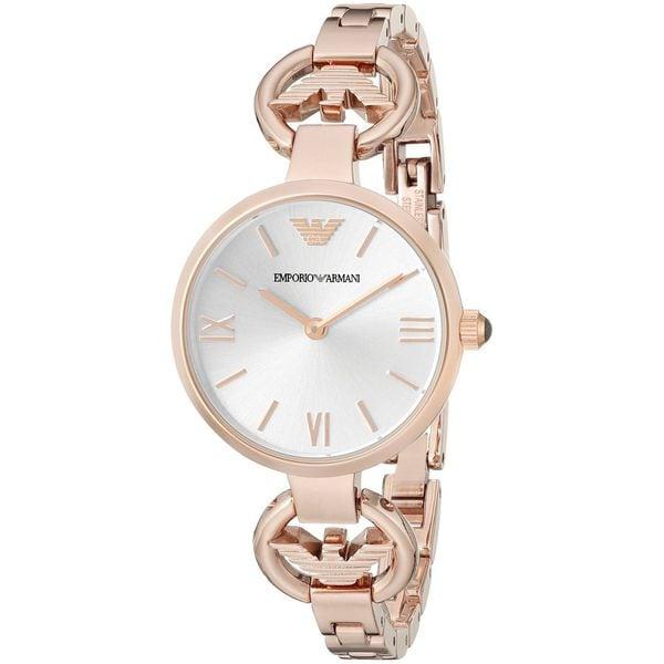Emporio Armani Women's AR1773 'Gianni' Rose-Tone Stainless Steel Watch
