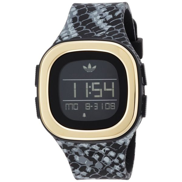Adidas Unisex ADH3045 'Denver' Black Silicone Watch