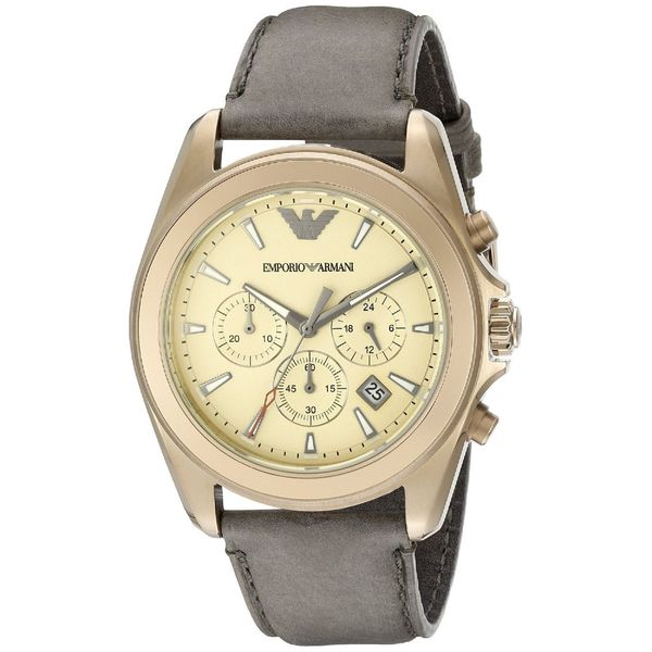 Emporio Armani Men's AR6071 'Sportivo' Chronograph Brown Leather Watch