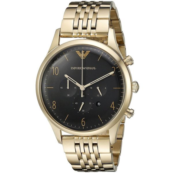 Emporio Armani Men's AR1893 'Classic' Chronograph Gold-Tone Stainless Steel Watch