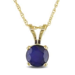 Miadora 14k Yellow Gold Sapphire Solitaire Necklace