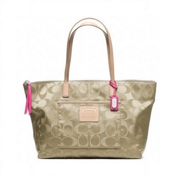 Coach Legacy Weekend Signature Nylon East/West Zip Tote