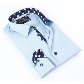 Dolce Guava Men's Light Blue Button-down Shirt