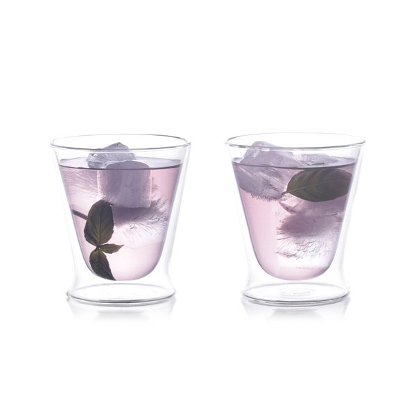 Epar 10-oz Double-Wall Tumbler Glass Set of 2