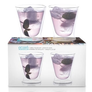 Eparé 10-oz Double-Wall Tumbler Glass Set of 2