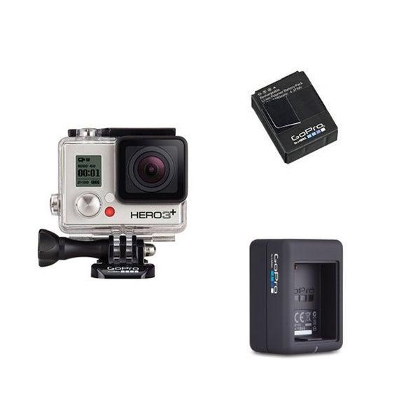 GoPro HERO3+ Silver Camera Bundle (Silver)