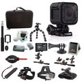 GoPro HERO4 Session + Action Camera Tripod Adapter + Vivitar Selfie Stick  with Wireless Shutter Release Bundle