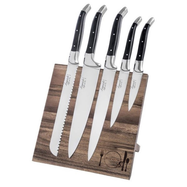 French Home 5-piece Laguiole Pakkawood Kitchen Knife Set