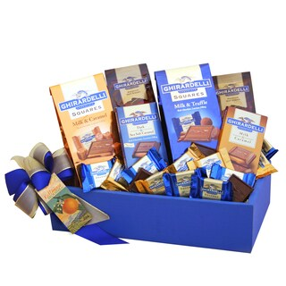 California Delicious Blue Ghirardelli Party Gift Basket