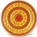 Hand-painted Round Plate in Red - Encantada Pottery (Mexico)