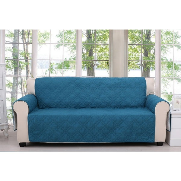 Greenland Home Fashions Saratoga Teal Furniture Sofa