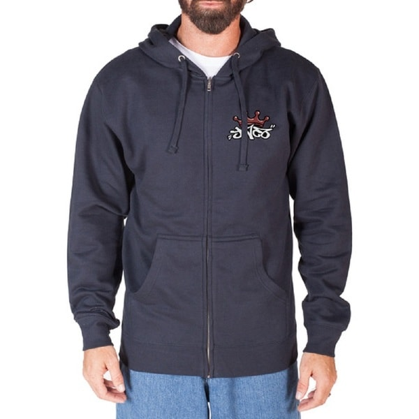 JNCO Men's Grey Mammoth Zip Hoodie